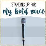 My bold voice