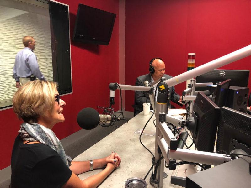 Kim Speaking at Radio Station